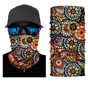 Simba Bandana face mask Neck Gaiter Circular Pattern S204