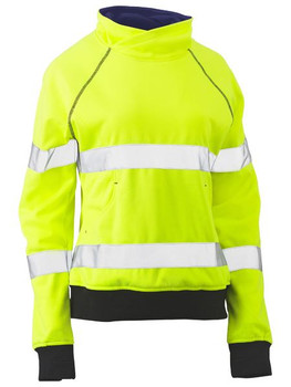 Womens Taped Hi Vis Fleece Jumper BKL6818T