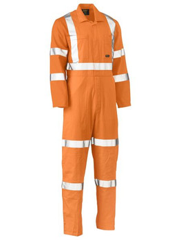 X Taped Hi Vis Lightweight Drill Rail Coverall BC6316XT