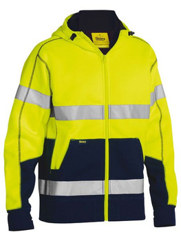 Taped Hi Vis Fleece Hoodie with Sherpa Lining BK6988T