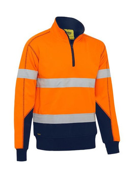 Taped Hi Vis Fleece Pullover with Sherpa Lining BK6987T