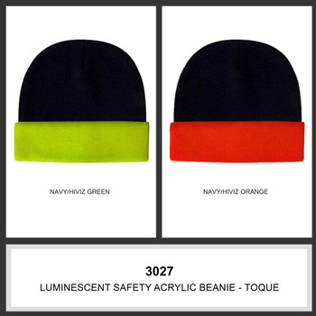 Luminescent Safety Acrylic Beanie - Toque HW 3027