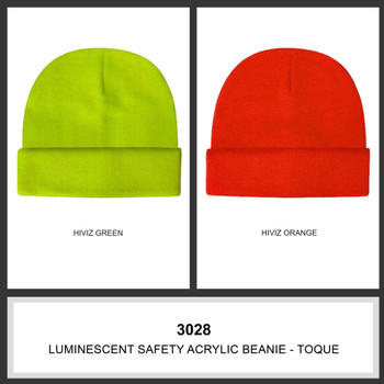 Luminescent Safety Acrylic Beanie - Toque HW 3028