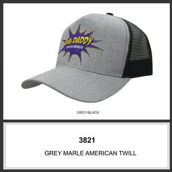 Grey Marle American Twill With Mesh Back HW 3821