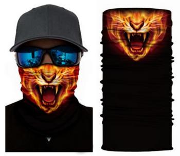 Simba Bandana face mask Neck Gaiter Fire Cat S34