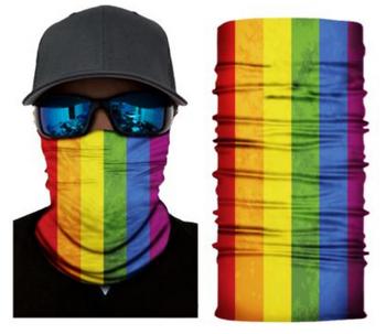 Simba Bandana face mask Neck Gaiter Rainbow S291
