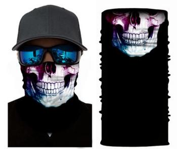 Simba Bandana face mask Neck Gaiter Coloured Skull S36
