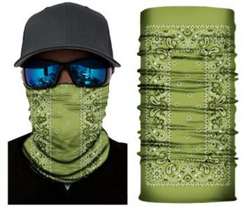 Simba Bandana face mask Neck Gaiter Rectangle Paisley Green S155