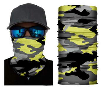 Simba Bandana face mask Neck Gaiter Camo Yellow S172
