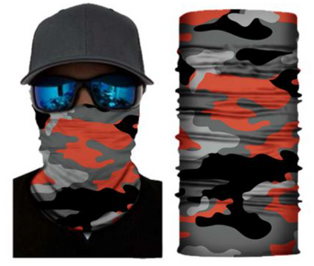 Simba Bandana face mask Neck Gaiter Camo Red S173