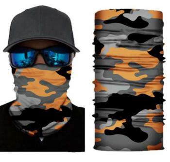 Simba Bandana face mask Neck Gaiter Camo Orange S176