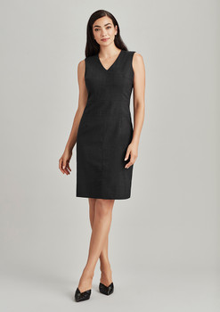 Womens Sleeveless V Neck Dress 34021