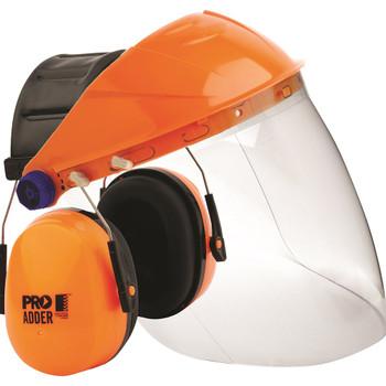 STRIKER BROWGUARD + CLEAR VISOR + ADDER EARMUFF COMBO - BGVCEADD