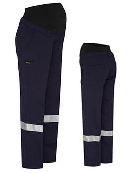 Bisley 3M Taped Maternity Drill Work Pant (BPLM6009T)