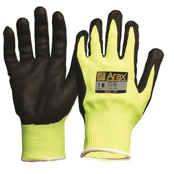 ProChoice® Arax® Gold, Nitrile Sand Dip On Hi-Vis Yellow Liner- CUT 5 AFYN