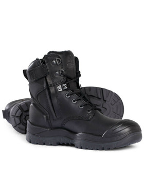 Mongrel R Series 561020 Black High Ankle ZipSider Boot