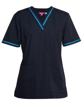 LADIES CONTRAST SCRUBS TOP 4SCT1