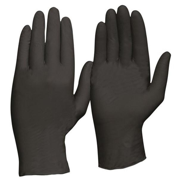 ProChoice® Disposable Nitrile Powder Free, Heavy Duty, Black Gloves MDNPFHD