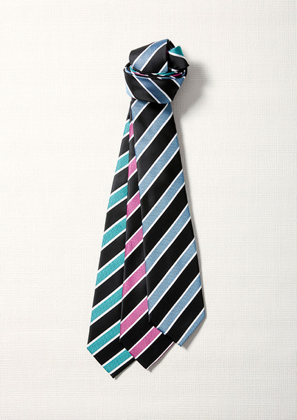 Mens Wide Contrast Stripe Tie 99103