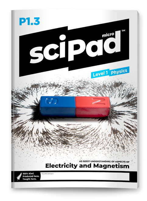 sciPAD 1.3 Physics Electricity Workbook Level 1 Year 11