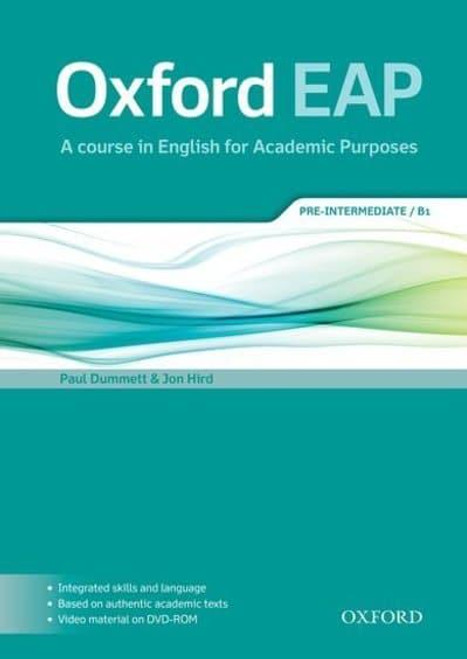 Oxford EAP: Pre-Intermediate/B1 Student's Book and DVD-ROM Pack