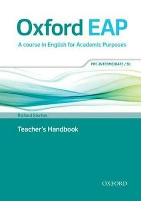 Oxford EAP: Pre-Intermediate/B1 Teacher's Book, DVD and Audio CD Pack