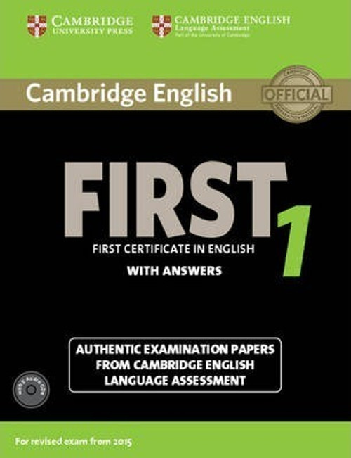 Cambridge English First 1 for Revised Exam from 2015 Student's Book Pack