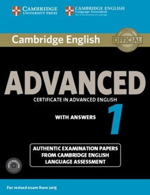 Cambridge English Advanced 1 for Revised Exam from 2015 Student's Book Pack