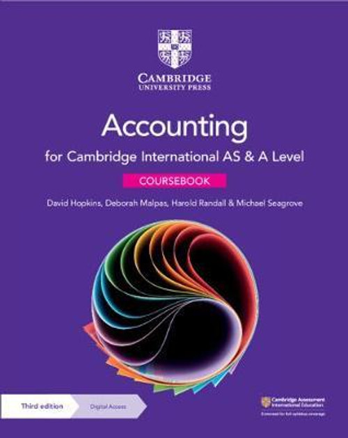 Cambridge International AS and A Level Accounting Coursebook ( available Feb 22)