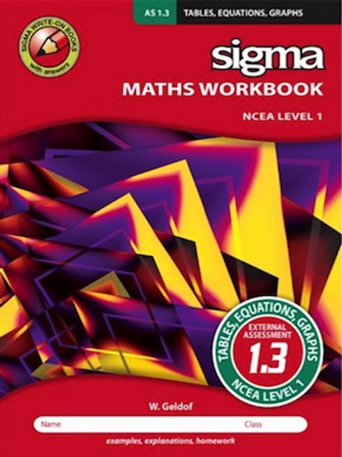 Sigma Workbook: AS 1.3 Tables, Equations, Graphs