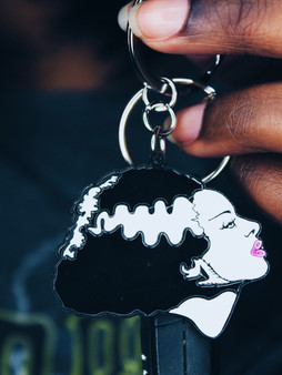 Rock Rebel | 'Bride of Frankenstein' Glow-In-The-Dark Keychain