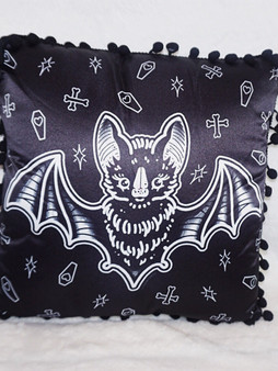 Sourpuss | Creepy Heart Bat Pillow