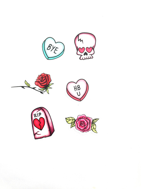 Valentine's Day Sticker Pack