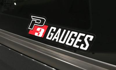 """P3 Gauges Sticker (1.75""""x 5"""")"""