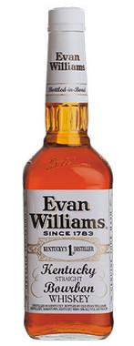 EVAN WILLIAMS WHITE LABEL BOURBON 750ML BOTTLED IN BOND AT 100 PROOF