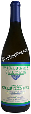 """WILLIAMS SELYEM 2019 CHARDONNAY """"UNOAKED"""" RUSSIAN RIVER VALLEY 750mL"""