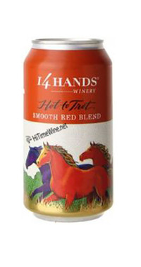 14 HANDS HOT TO TROT RED CANS COLUMBIA VALLEY 375mL