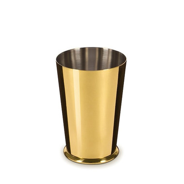 LEOPOLD GOLD-PLATED SMALL WEIGHTED SHAKER 18OZ SHAKING TIN