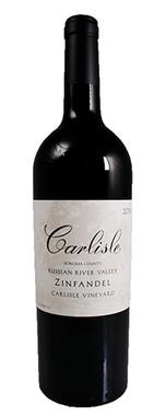 "CARLISLE 2018 ZINFANDEL ""CARLISLE VINEYARD"" RUSSIAN RIVER VALLEY 750mL"