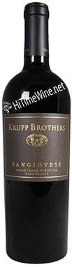 "KRUPP BROTHERS 2016 SANGIOVESE ""STAGECOACH VINEYARD"" NAPA VALLEY 750mL"