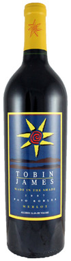 """TOBIN JAMES 2014 MERLOT """"MADE IN THE SHADE"""" PASO ROBLES 750mL"""