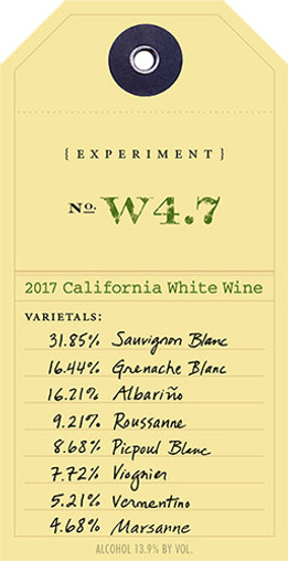 "OVID 2017 PROPRIETARY WHITE ""EXPERIMENT W4.7"" CALIFORNIA 750mL"