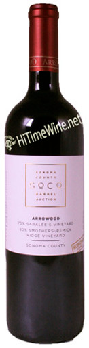 """ARROWOOD 2013 PROPRIETARY RED... """"SARALEE'S & SMOTHERS"""" SONOMA COUNTY 750mL"""