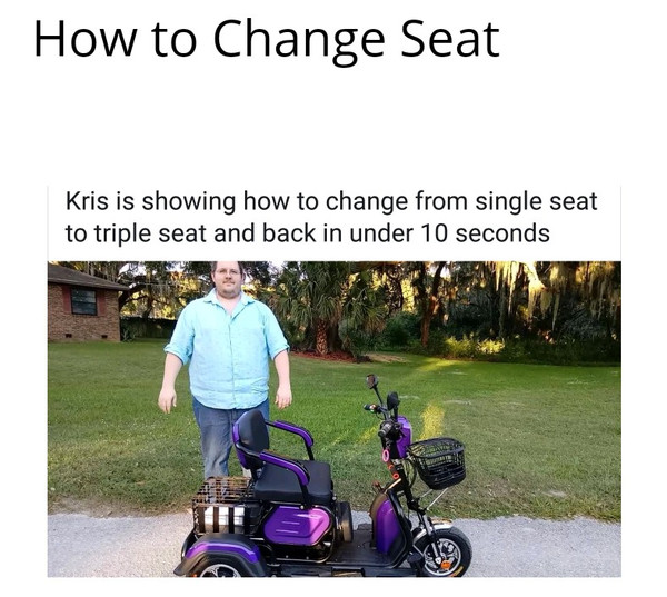 How to change Seating