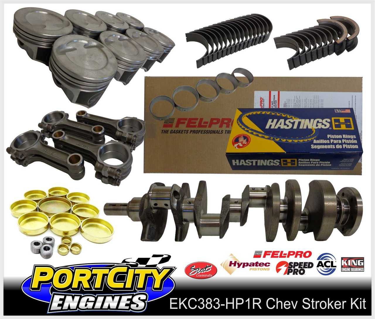 """Chev 383 HP1 performance stroker engine kit for Small Block 350 383 5.7"""""""