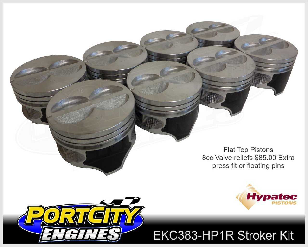 Hypatec Flat top pistons for 383 stroker