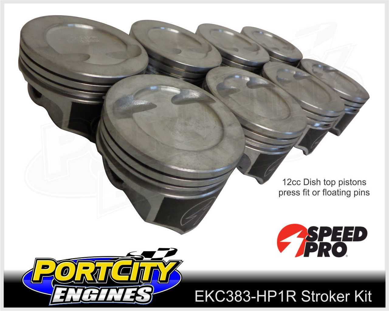 Speed Pro dish top pistons for 383 stroker