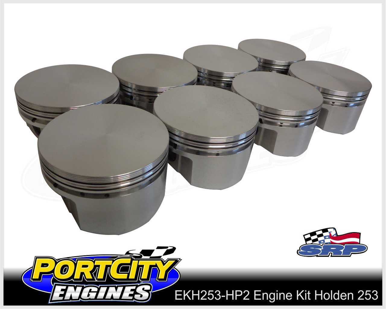 SRP forged pistons for holden 253