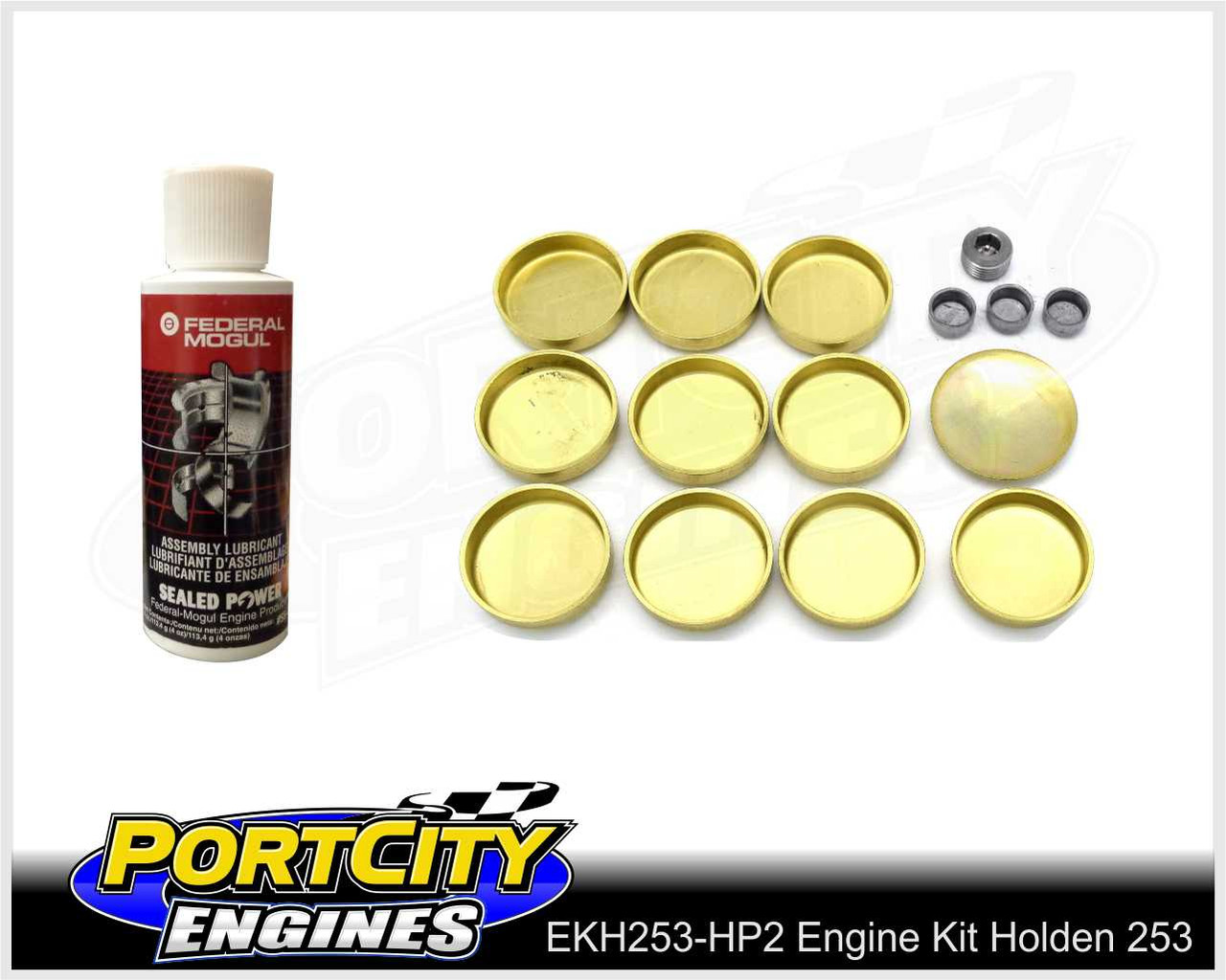 Brass core plug set and Engine assembly lube