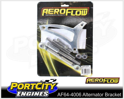 Aeroflow Alloy Alternator Bracket Ford V8 289 302 Windsor Drivers Side AF64-4006